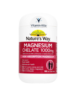 Natures Way Magnesium Chelate 1000mg - 100 Tabs