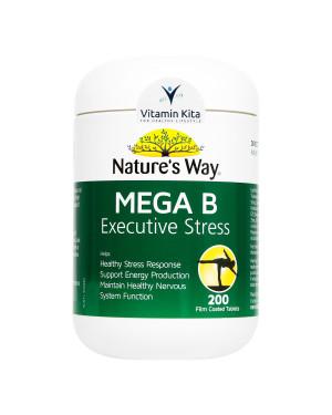 Natures Way Mega B Executive Stress-200 Tabs