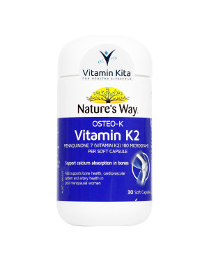 Natures Way Osteo-K Vitamin K2 (30 Soft Caps)