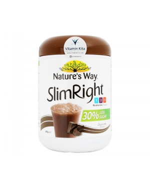 Natures Way Slim Right Less Sugar Soy Protein Chocolate Flavour - 375g