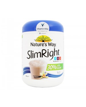 Natures Way Slim Right Less Sugar Soy Protein Vanila Flavour - 375g
