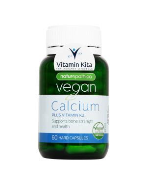 Naturopathica Vegan Calcium Plus Vitamin K2-60 Hard Caps