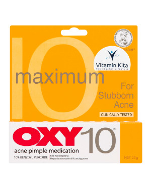 OXY 10 MAXIMUM ACNE PIMPLE MEDICATION FOR STUBBORN ACNE 25G