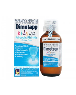 Dimetapp Allergic Rhinitis Colour Free Kids 2-5 Years - 200 ml