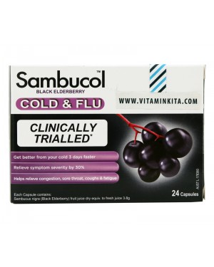 Sambucol Cold And Flu Clinically Trialled - 24 Cap