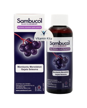 Sambucol Cold And Flu Syrup BPOM (120mL)