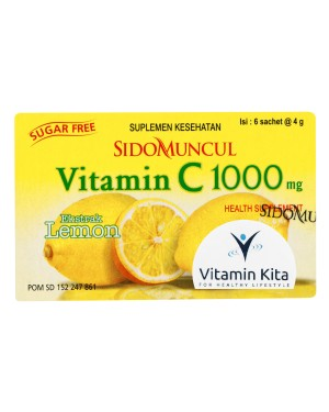 SIDOMUNCUL VITAMIN C 1000 MG EXTRACT LEMON - 1 BOX (6 PC)