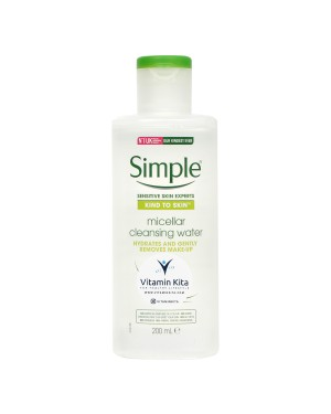 SIMPLE KIND TO SKIN (ALL SKIN TYPE) MICELLAR CLEANSING WATER HYDRATES GENTLY REMOVES MAKE UP 200 ML