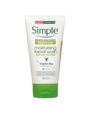 SIMPLE KIND TO SKIN  (ALL SKIN TYPE) MOISTURISING FACIAL WASH FOAM 100% SOAP FREE 150 ML