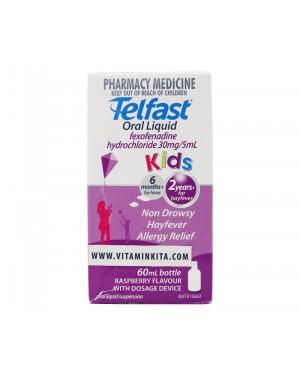 Telfast Hayfever Allergy Relief Oral Liquid Kids - 60 ml