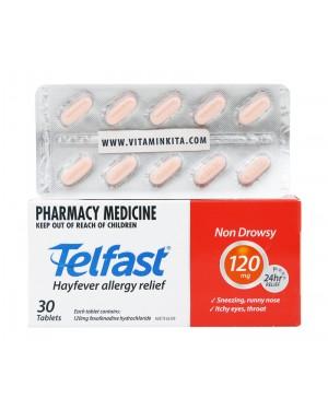Telfast Hayfever Allergy Relief 120mg - 30 tab