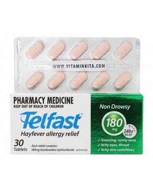 Telfast Hayfever Allergy Relief 180mg - 30 tab